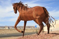 USA, Arizona: Iron Horse Sculpture Stock Photography