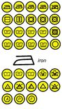 Iron icone. Illustration of icons cleaning and washing Stock Images