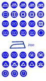 Iron icone. Illustration of icons cleaning and washing vector illustration