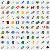 100 iron icons set, isometric 3d style. 100 iron icons set in isometric 3d style for any design vector illustration Stock Image