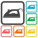 Iron icons set Royalty Free Stock Image