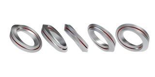 Iron infinity symbols Royalty Free Stock Photos