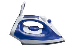 Iron ironing blue Stock Photography