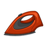 Iron for ironing. Dry cleaning single icon in cartoon style. Vector symbol stock illustration Stock Image