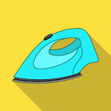 Iron for ironing. Dry cleaning single icon in flat style vector symbol stock illustration web. Royalty Free Stock Photography