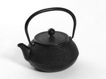 Iron japanese teapot Royalty Free Stock Image