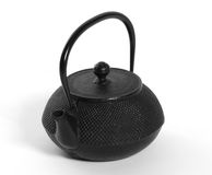 Iron japanese teapot Royalty Free Stock Images