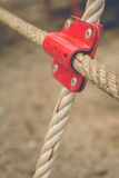 Iron joint point of ropes Stock Image