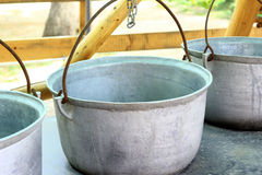 Iron kettles Royalty Free Stock Photo