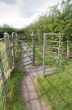 Iron kissing gate in good condition. Type of stile style. Royalty Free Stock Photography