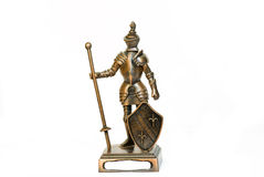 Iron knight 2. Suit of Armour with sword and shield Stock Photography
