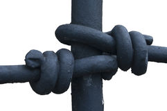 Iron knot. Great close-up of some detailed ironwork Stock Photos