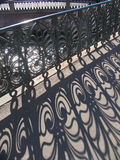 Iron lace - 3. Cast iron fence of the bridge in St. Petersburg in the summer Royalty Free Stock Photography