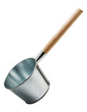 Iron ladle for the sauna, isolated Stock Image