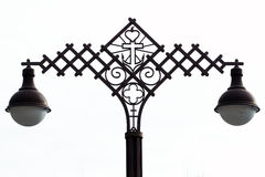 Iron lamp post Royalty Free Stock Photo