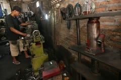 Iron lathe Stock Photo