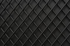 The iron lattice painted with black paint. Textural background. Close-up Royalty Free Stock Photo