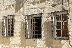 Iron latticed windows Royalty Free Stock Photos