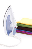 Iron and laundry Stock Photo