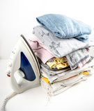 Iron and laundry Royalty Free Stock Photography