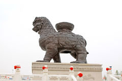 Free Iron Lion In A Park Stock Image - 30550391