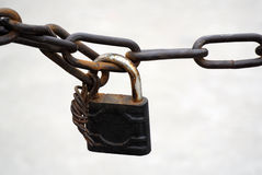 Iron lock Royalty Free Stock Images