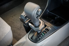 Iron lock on automatic gear shift Stock Image