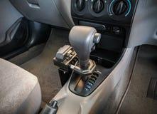 Iron lock on automatic gear shift Stock Image