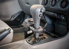 Iron lock on automatic gear shift Royalty Free Stock Photo
