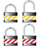 Iron locks. Raster �1 1 Royalty Free Stock Photography