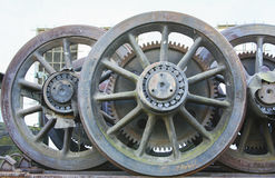 Iron locomotive wheels Royalty Free Stock Photography
