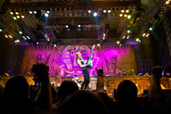 Iron Maiden In Concert Stock Images