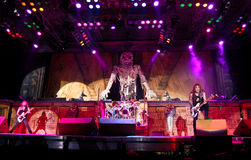 Iron Maiden In Concert Royalty Free Stock Photography