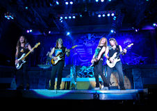 Iron Maiden In Concert royalty free stock image