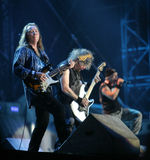 IRON MAIDEN IN CONCERT Stock Photo