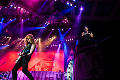 Iron Maiden concert Stock Image