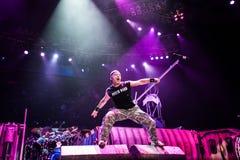 Iron Maiden concert Stock Photo