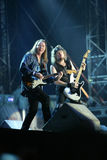 IRON MAIDEN DE CONCERT Photographie stock