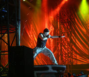 IRON MAIDEN DE CONCERT Photos stock