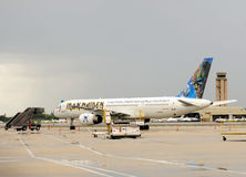 Iron Maiden log jet airplane Stock Photography