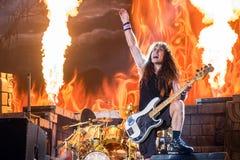 Iron Maiden in Prague 2016. Iron Maiden on concert in Prague - Eden Arena, 5. 7. 2016 royalty free stock photography