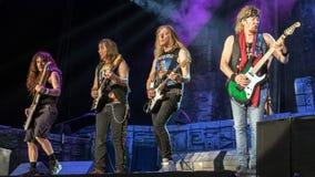 Iron Maiden in Prague 2016 royalty free stock photos