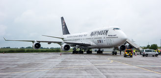 Iron Maiden's Boeing 747 Ed Force One Stock Images