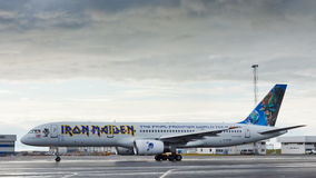 Iron Maiden's Ed Force One Airplane Stock Image