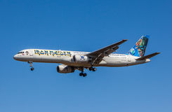 Iron Maiden's Ed Force One Airplane Royalty Free Stock Image