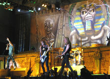 Iron Maiden on tour -  Royalty Free Stock Photos