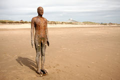 Iron Man Beach Sculpture. Royalty Free Stock Photos