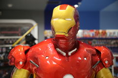 Sculpture of Iron Man of the Avengers. Iron Man is a fictional superhero appearing in American comic books published by Marvel Comics. The character was created Royalty Free Stock Photography