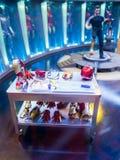 Iron Man 3 figurine display of Tony Stark Royalty Free Stock Photos