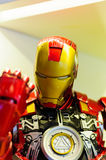 Iron Man Figurine. Realistic figurine of Iron Man comic character on a sophisticated toy and collection shop Royalty Free Stock Photo